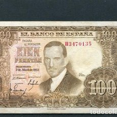 Billetes españoles: BILLETES ESPAÑOLES DE ESPAÑA BARATOS A BUEN PRECIO 100 PESETAS CIEN 7 ABRIL 1953 JULIO ROMERO TORRES. Lote 104814107