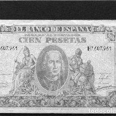 Billetes españoles: BILLETES ANTIGUOS BARATOS A BUEN PRECIO DE ESPAÑA ESPAÑOLES CIEN 100 PESETAS 9 ENERO 1940 . Lote 104815687