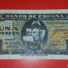 Billetes españoles: BILLETE ESPAÑA 1 PESETA 1940 EBC. Lote 104340707