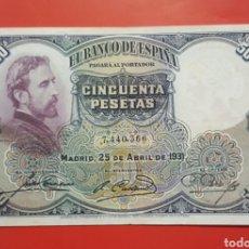 Billetes españoles: BILLETE ESPAÑA 50 PESETAS 1931 BC. Lote 155430449