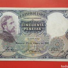 Billetes españoles: BILLETE ESPAÑA 50 PESETAS 1931 BC. Lote 155430432