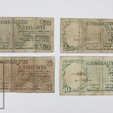 Billetes españoles: SERIE COMPLETA DE BILLETES GENERALITAT DE CATALUNYA, 25 SEPTIEMBRE 1936 - 2,50, 5 Y 10 PESETAS - BC-. Lote 104779903