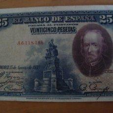 Billetes españoles: BILLETE 25 PESETAS 1928. Lote 106196760