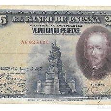 Billetes españoles: BILLETE 25 PESETAS 1928 XISPAJ1. Lote 146492764