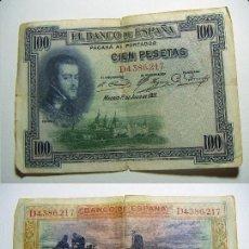 Billetes españoles: BILLETE DE 100 PESETAS DE 1925 SERIE D CIRCULADO. Lote 107799335