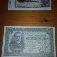 Billetes españoles: REPRODUCCIÓN FACSÍMIL. CINCUENTA PESETAS. 1940. EST24B2. Lote 107997819