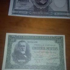 Billetes españoles: REPRODUCCIÓN FACSÍMIL. CINCUENTA PESETAS. 1940. EST24B2.. Lote 107998831