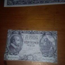 Billetes españoles: REPRODUCCIÓN FACSÍMIL. 25 PESETAS. 1940 EST24B2. Lote 107999327