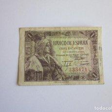 Billetes españoles: PESETA DE 1945. ISABEL. SIN SERIE.. Lote 108003563