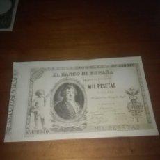 Billetes españoles: REPRODUCCIÓN FACSÍMIL. 1000 PESETAS. 1895. EST24B2. Lote 108006855