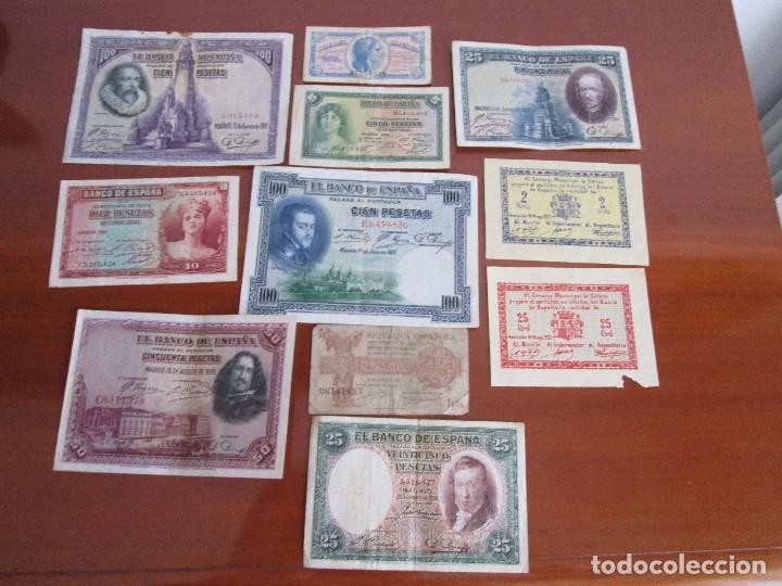 11 BILLETES ESPAÑOLES VEAN FOTOS Y DESCRIPCION (Numismática - Notafilia - Billetes Españoles)