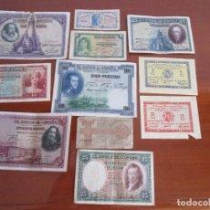 Billetes españoles: 11 BILLETES ESPAÑOLES VEAN FOTOS Y DESCRIPCION. Lote 108989531