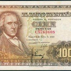 Billetes españoles: BILLETE 100 PESETAS 1948, BAYEU, SERIE C, SC-. Lote 109276695