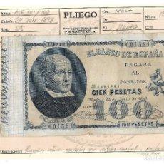 Billetes españoles: BILLETE. 100 PESETAS. 1898. JOVELLANOS. VER FOTOS. Lote 109526435