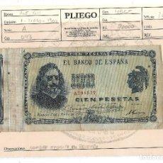 Billetes españoles: BILLETE. 100 PESETAS. 1900. QUEVEDO. VER FOTOS. Lote 109526459