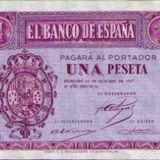 Billetes españoles: 1 PESETA 1937 SERIE B SIN CIRCULAR. Lote 109753327