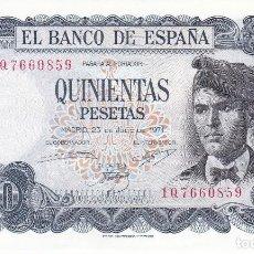 Billetes españoles: BILLETE DE 500 PESETAS DEL AÑO 1971 DE VERDAGUER SERIE 1Q EN BUENA CALIDAD . Lote 109863219