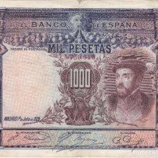 Billetes españoles: BILLETE DE ESPAÑA DE 1000 PESETAS DEL AÑO 1925 DEL REY CARLOS I . Lote 109866951