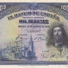 Billetes españoles: BILLETE DE 1000 PESETAS DEL AÑO 1928 DE SAN FERNANDO EN CALIDAD EBC+. Lote 109867479