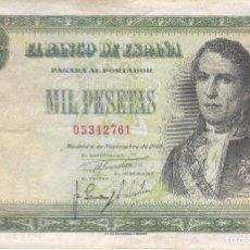 Billetes españoles: BILLETE DE 1000 PESETAS DEL 4 DE NOVIEMBRE DE 1949 DE RAMON DE SANTILLAN . Lote 109869011
