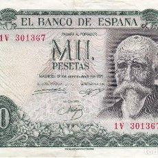 Billetes españoles: BILLETE DE 1000 PESETAS DEL AÑO 1971 DE JOSE ECHEGARAY SERIE 1V. Lote 109871183