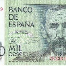 Billetes españoles: BILLETE DE 1000 PESETAS DEL AÑO 1979 DE BENITO PEREZ GALDOS SERIE 7E - SIN CIRCULAR. Lote 109872219