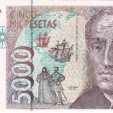 Billetes españoles: BILLETE DE ESPAÑA DE 5000 PESETAS DE CRISTOBAL COLON DEL AÑO 1992 SERIE 3L EN CALIDAD EBC . Lote 109886651