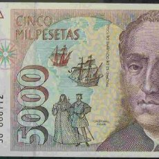 Billetes españoles: 5000 PESETAS 1992 SIN CIRCULAR/PLANCHA. Lote 110015751