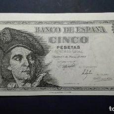 Billetes españoles: 5 PESETAS 1948 (SERIE I) SC. Lote 110050555