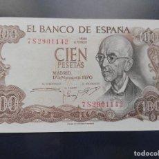 Billetes españoles: 100 PESETAS 1970 (SC) SERIE 7S. Lote 110091147