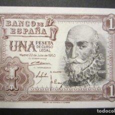 Billetes españoles: 1 PESETA DE 1953 SERIE H-339 PLANCHA. Lote 110157095