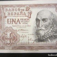 Billetes españoles: 1 PESETA DE 1953 SERIE 1G-100 PLANCHA. Lote 110157199