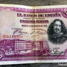 Billetes españoles: BILLETE ANTIGUO 50 PESETAS 1928. Lote 110189858