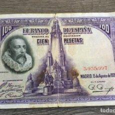 Billetes españoles: BILLETE ANTIGUO 100 PESETAS 1928. Lote 110190618