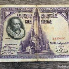 Billetes españoles: BILLETE ANTIGUO 100 PESETAS 1928. Lote 110190808