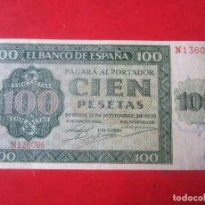Billetes españoles: BILLETE DE 100 PESETAS. 21 DE NOVIEMBRE DE 1936. Lote 110511979