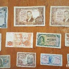 Billetes españoles: BILLETES ESPAÑOLES ANTIGUOS. REPÚBLICA, FRANQUISMO....... Lote 110710263