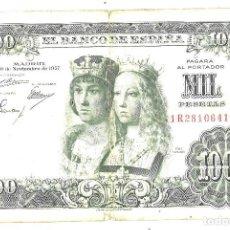 Billetes españoles: 1000 PESETAS. 1957. REYES CATÓLICOS. Lote 111620631