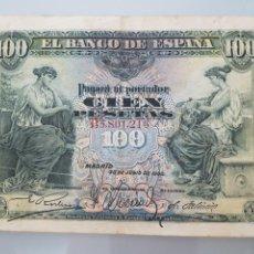 Billetes españoles: BILLETE 100 PESETAS 1906 SERIE B MADRID. Lote 112321226