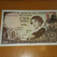 Billetes españoles: 100 PESETAS 1965 CALIDAD SC RESUELLO 2 SELLOS 80CTM. Lote 112327779
