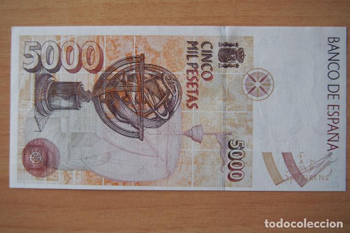 Billetes españoles: BILLETE 5000 PESETAS BANCO ESPAÑA MADRID 12 OCTUBRE 1992 CRISTOBAL COLON PLANCHA SC SIN SERIE. FOTOS - Foto 2 - 112446443
