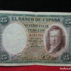Billetes españoles: 25 PESETAS 1931 BC. Lote 112464687