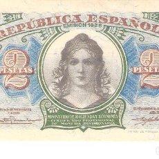 Billetes españoles: BILLETE DE ESPAÑA DE 2 PESETAS DE 1938 BUEN ESTADO REPÚBLICA ESPAÑOLA. Lote 112628735