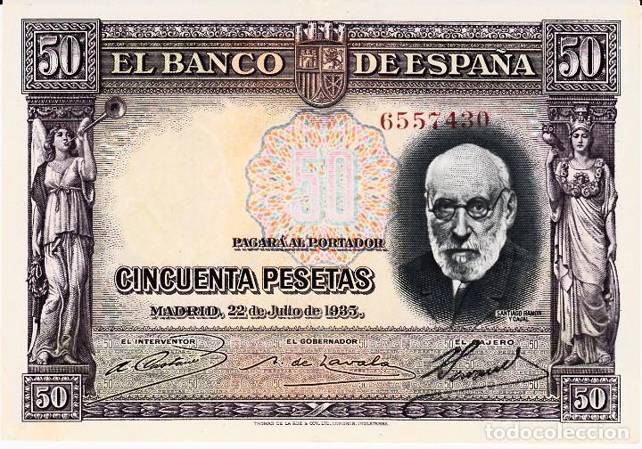 BILLETE BANCO DE ESPAÑA .- 50 PESETAS 1935 (Numismática - Notafilia - Billetes Españoles)
