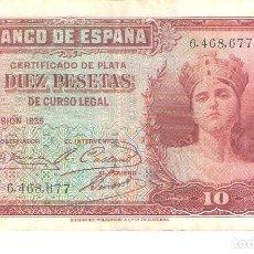 Billetes españoles: BILLETE DE ESPAÑA DE 10 PESETAS DE 1935 CIRCULADO . Lote 112712947