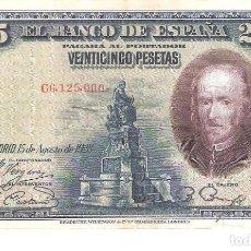 Billetes españoles: BILLETE DE ESPAÑA DE 25 PESETAS DE 1928 CIRCULADO CALDERÓN DE LA BARCA. Lote 112715943