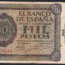 Billetes españoles: 1000 PESETAS 1936 SERIE A MBC-. Lote 112984491