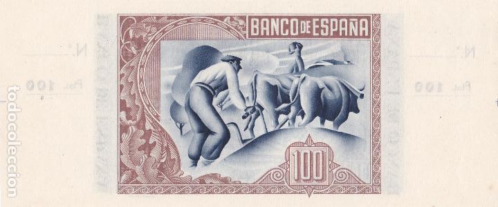 Billetes españoles: BILLETE 100 PESETAS BANCO ESPAÑA BILBAO EUZKADI 1 ENERO 1937 BANCO VIZCAYA CON MATRIZ SC PLANCHA - Foto 2 - 113012851