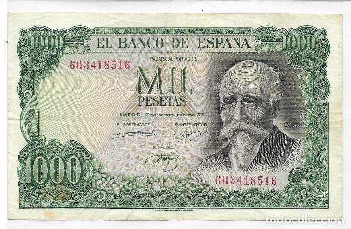 BANCO DE ESPAÑA - BILLETE DE 1.000 PESETAS FECHA 17 SEPTIEMBRE 1971 - B.C. (Numismática - Notafilia - Billetes Españoles)