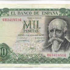 Banconote spagnole: BANCO DE ESPAÑA - BILLETE DE 1.000 PESETAS FECHA 17 SEPTIEMBRE 1971 - B.C.. Lote 113105363